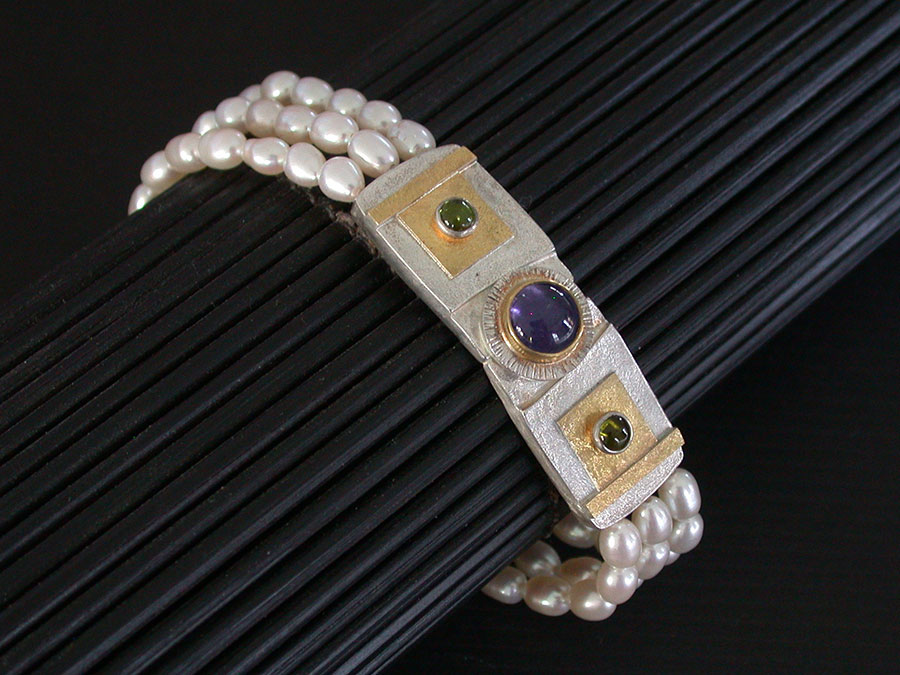 Anne Besse Shepherd: Amethyst Post Earrings | Rendezvous Gallery