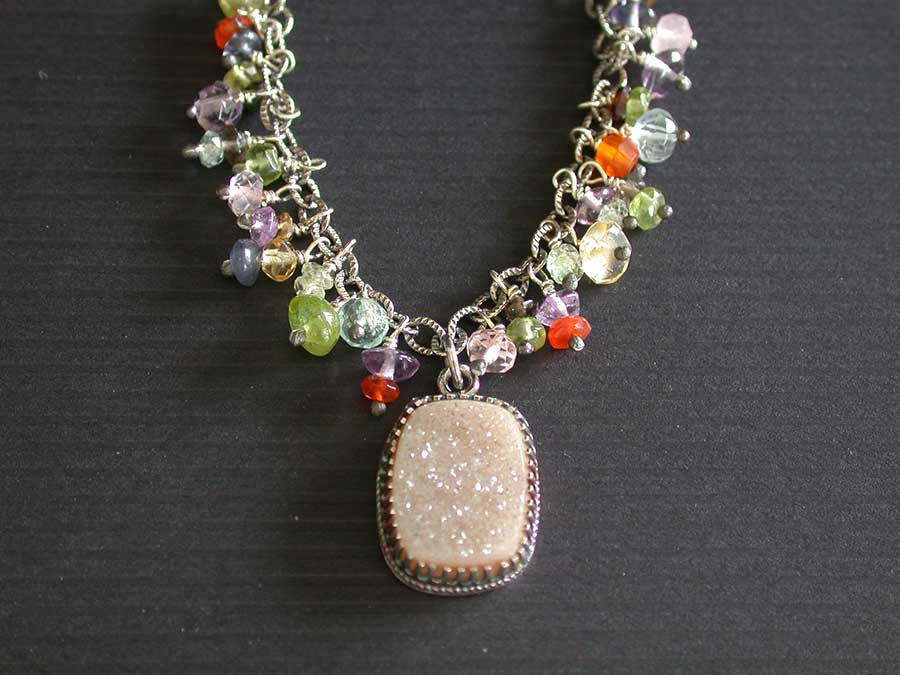 Elyn Blake: Drusy Charm Necklace | Rendezvous Gallery