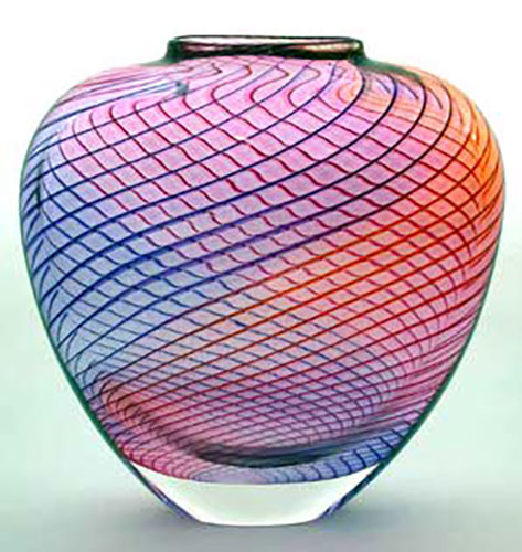 Ribbed Spiral Vase by Blodgett Glass | Rendezvous Gallery