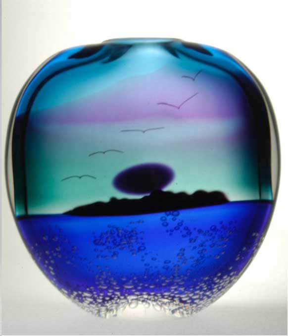 Blodgett Glass: Island Midnight Vase | Rendezvous Gallery