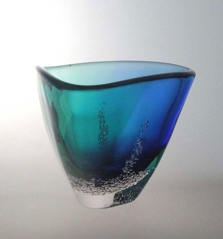 Triangle Bowl by Blodgett Glass | Rendezvous Gallery