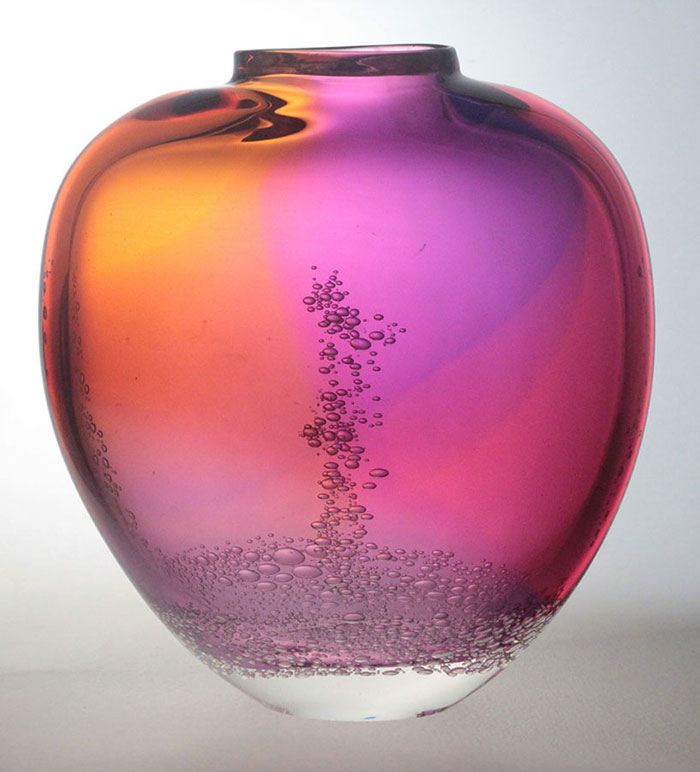 Blodgett Glass: Flat Closed Mouth Vase | Rendezvous Gallery