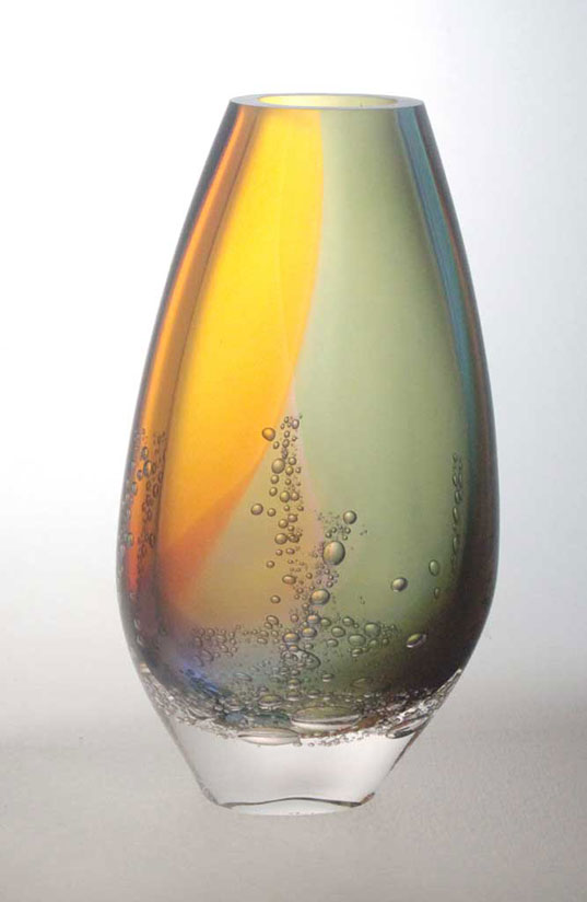 Blodgett Glass: Teardrop Small Mouth Vase | Rendezvous Gallery