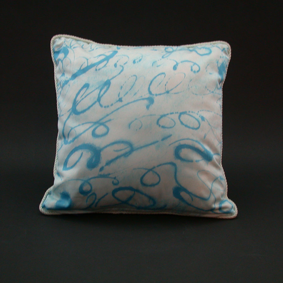 Karen Burton: Hand-Painted  Cotton Pillow | Rendezvous Gallery
