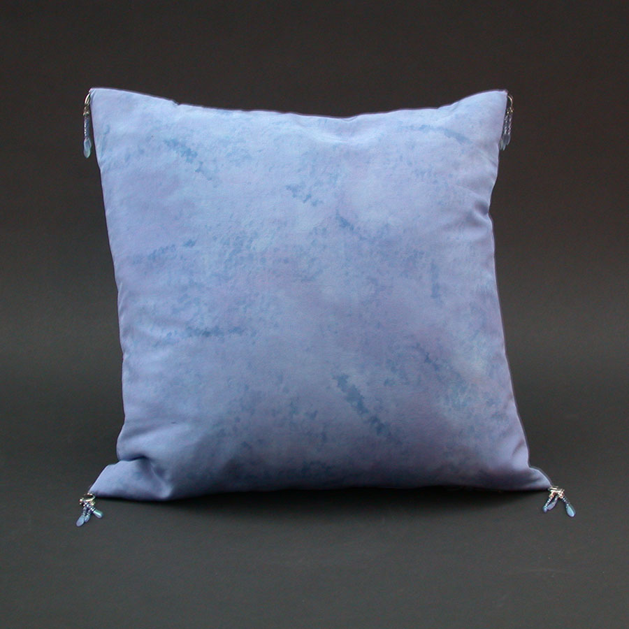 Karen Burton: Hand-Painted Silk Pillow | Rendezvous Gallery