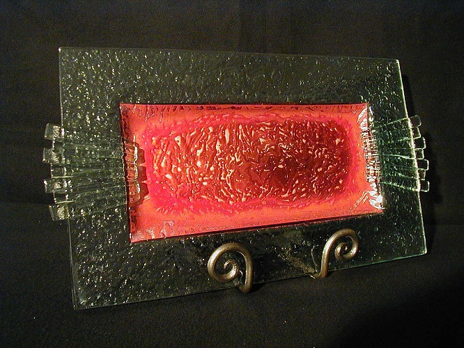 Charlton Glass: Fractured Tray | Rendezvous Gallery