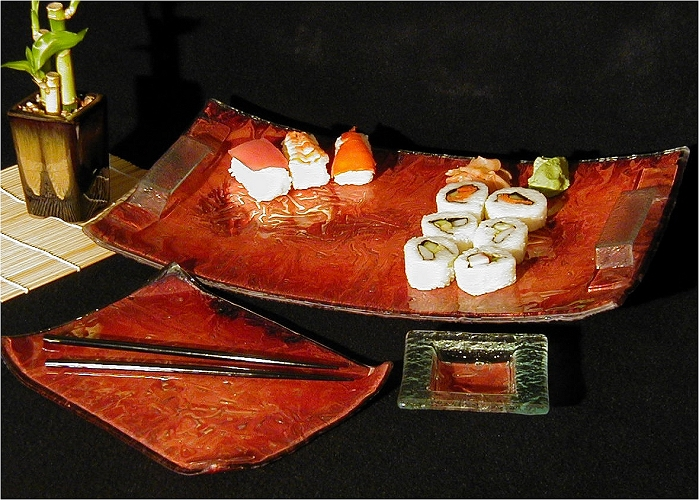 Charlton Glass: Sushi Serving Pieces | Rendezvous Gallery