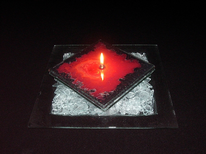 Charlton Glassworks: Square Oil Lamp | Rendezvous Gallery