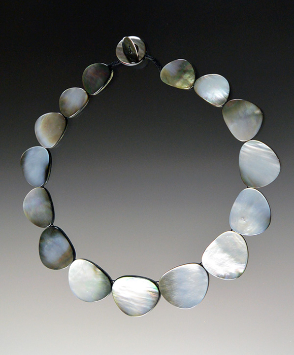 Bess Heitner: Black Lip Mother of Pearl Necklace | Rendezvous Gallery