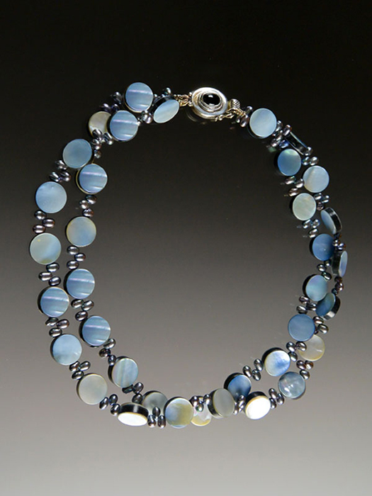 Bess Heitner: Mother of Pearl & Freshwater Pearl Necklace | Rendezvous Gallery