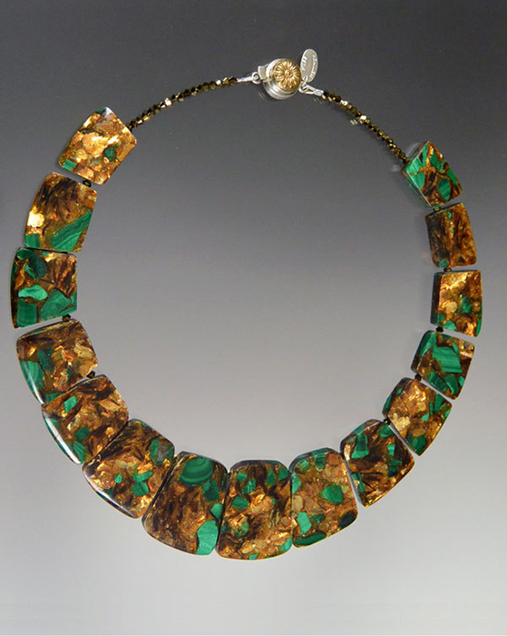 Bess Heitner: Malachite Copper Collar | Rendezvous Gallery