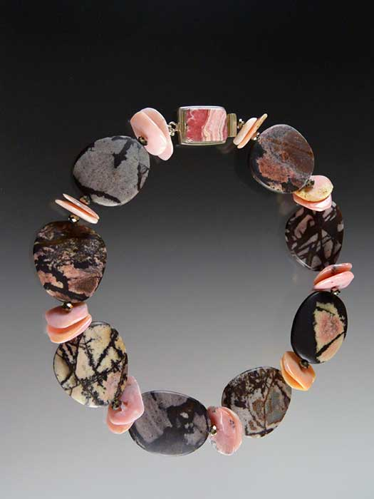 Bess Heitner: Outback Jasper & Pink Opal Collar | Rendezvous Gallery