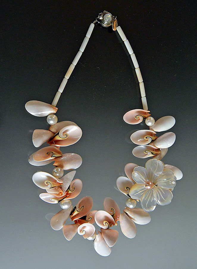 Bess Heitner: Aloha Mother of Pearl Statement Necklace | Rendezvous Gallery