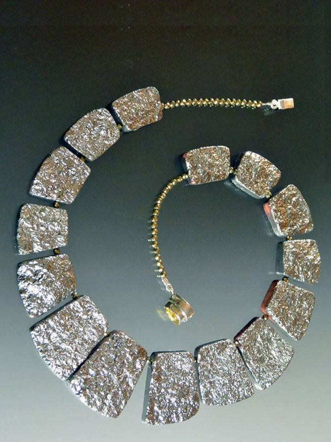 Bess Heitner: Raw Crystal-Plated Jasper Necklace | Rendezvous Gallery