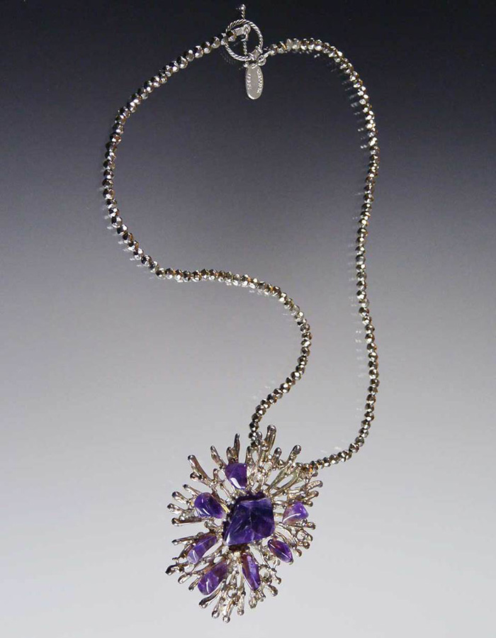 Bess Heitner: Amethyst Starburst Necklace | Rendezvous Gallery