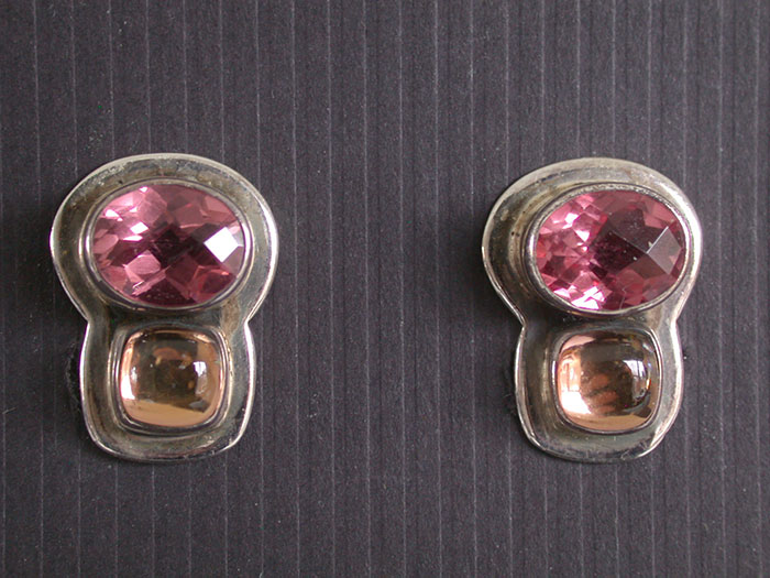 Amy Kahn Russell: Celestial Quartz & Crystal Clip Earrings | Rendezvous Gallery