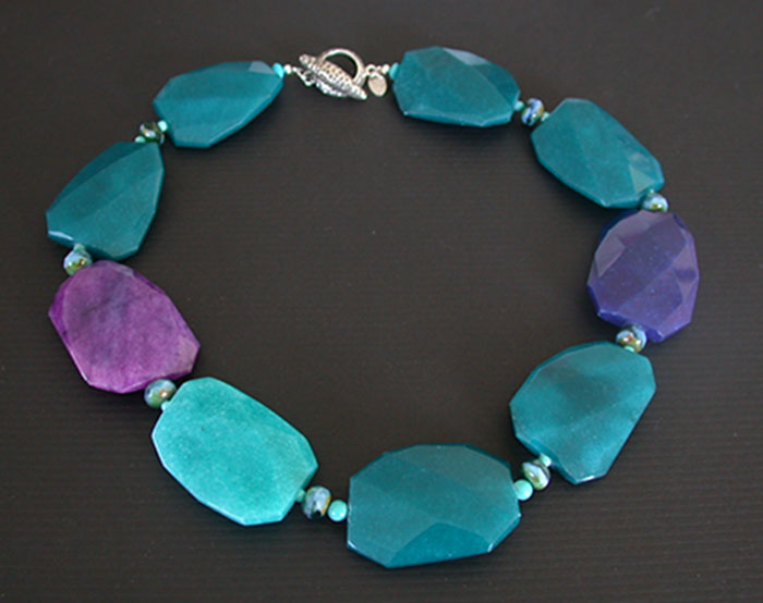Amy Kahn Russell: Jade, Czech Glass & Chinese Turquoise Necklace | Rendezvous Gallery