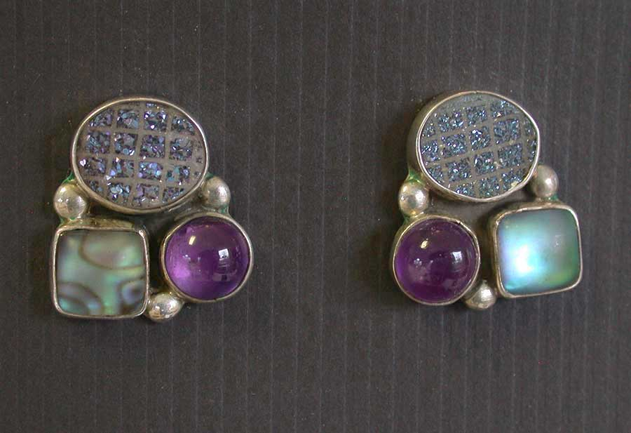 Amy Kahn Russell: Freshwater Pearl & Crystal Post Earrings | Rendezvous Gallery