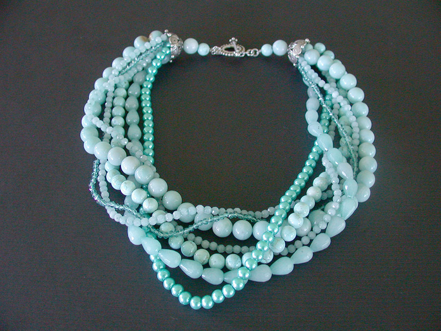 Amy Kahn Russell Online Trunk Show: Turquoise, Amazonite, Quartz & Freshwater Pearl Necklace | Rendezvous Gallery