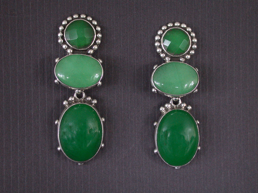 Amy Kahn Russell Online Trunk Show: Green Quartz Post Earrings | Rendezvous Gallery