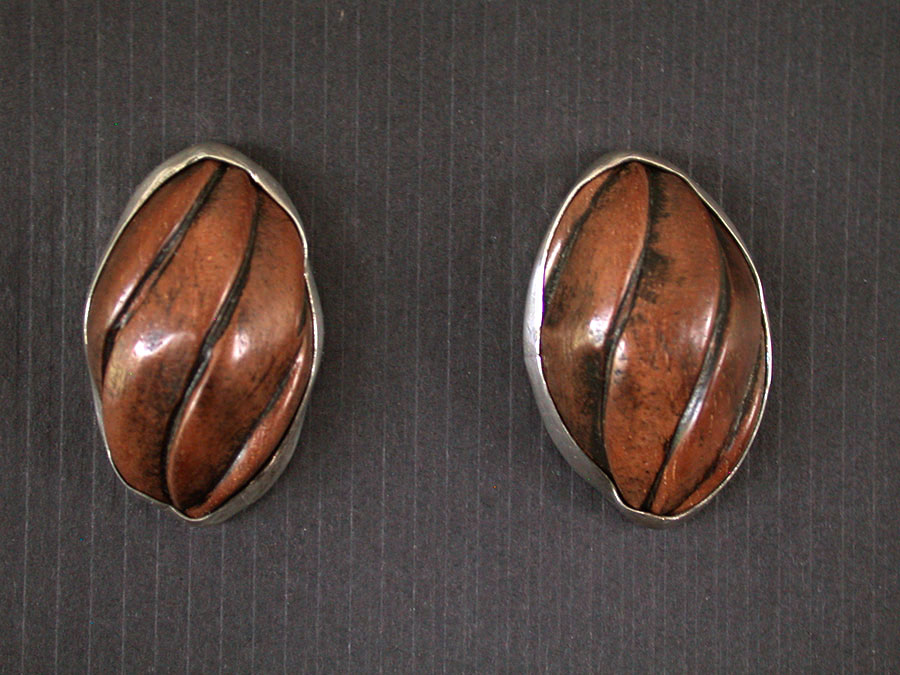 Amy Kahn Russell Online Trunk Show: Hand Carved Wood Post Earrings | Rendezvous Gallery