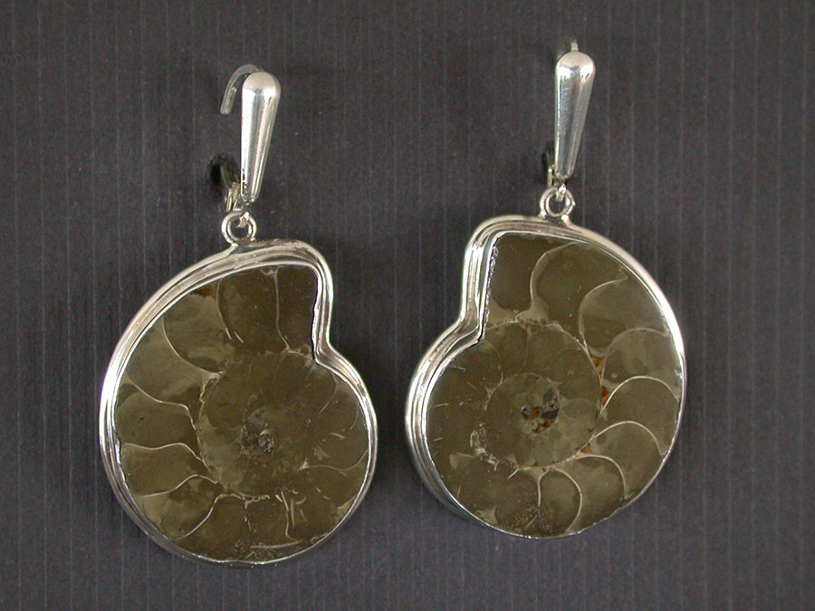 Amy Kahn Russell Online Trunk Show: Fossilized Ammonite Earrings | Rendezvous Gallery