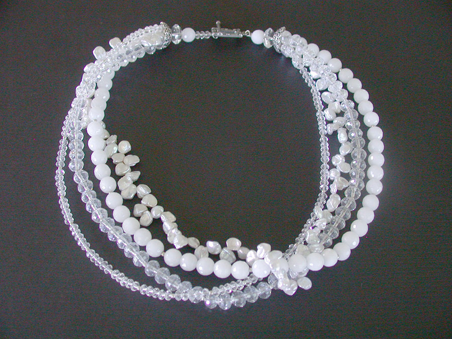 Amy Kahn Russell Online Trunk Show: Freshwater Pearl, Agate & Crystal Necklace | Rendezvous Gallery