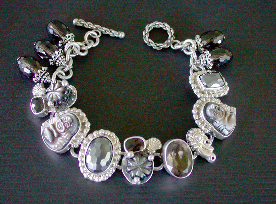 Amy Kahn Russell Online Trunk Show: Smokey Topaz, Hematite & Mother of Pearl Bracelet | Rendezvous Gallery