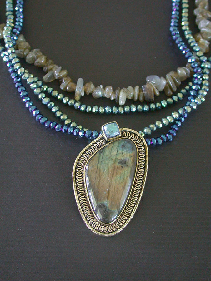 Amy Kahn Russell Online Trunk Show: Labradorite & Angelic Crystal Necklace | Rendezvous Gallery