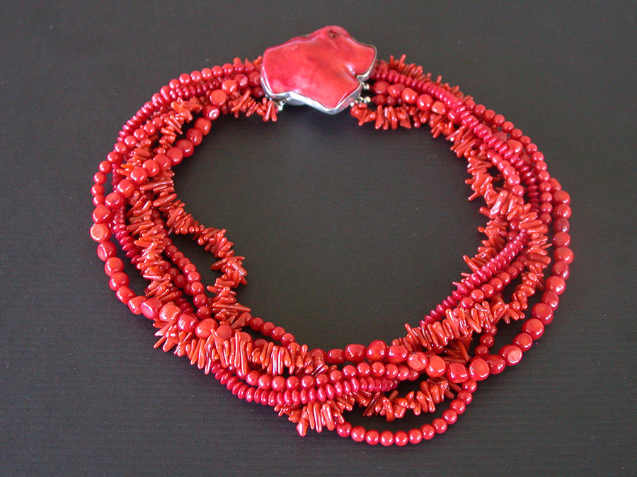 Amy Kahn Russell Online Trunk Show: Bamboo Coral Necklace | Rendezvous Gallery