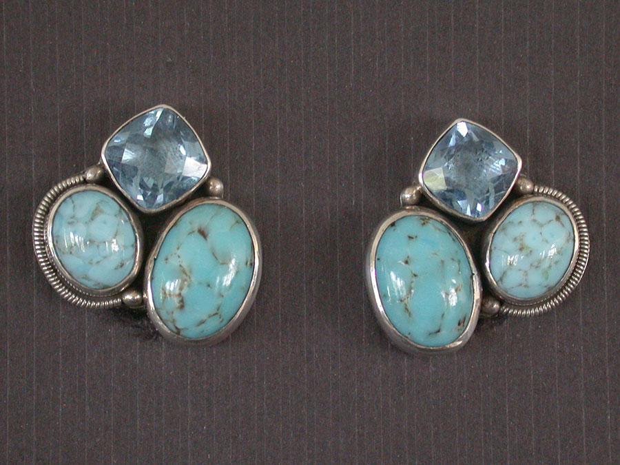 Amy Kahn Russell Online Trunk Show: Hubble Glass & Celestial Quartz Clip Earrings | Rendezvous Gallery