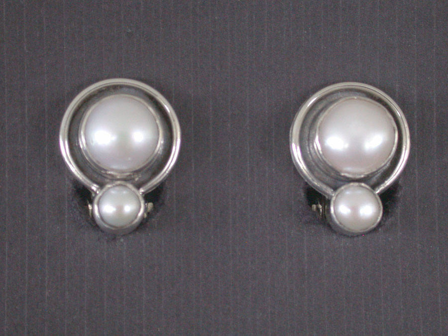 Amy Kahn Russell Online Trunk Show: Freshwater Pearl Clip Earrings | Rendezvous Gallery