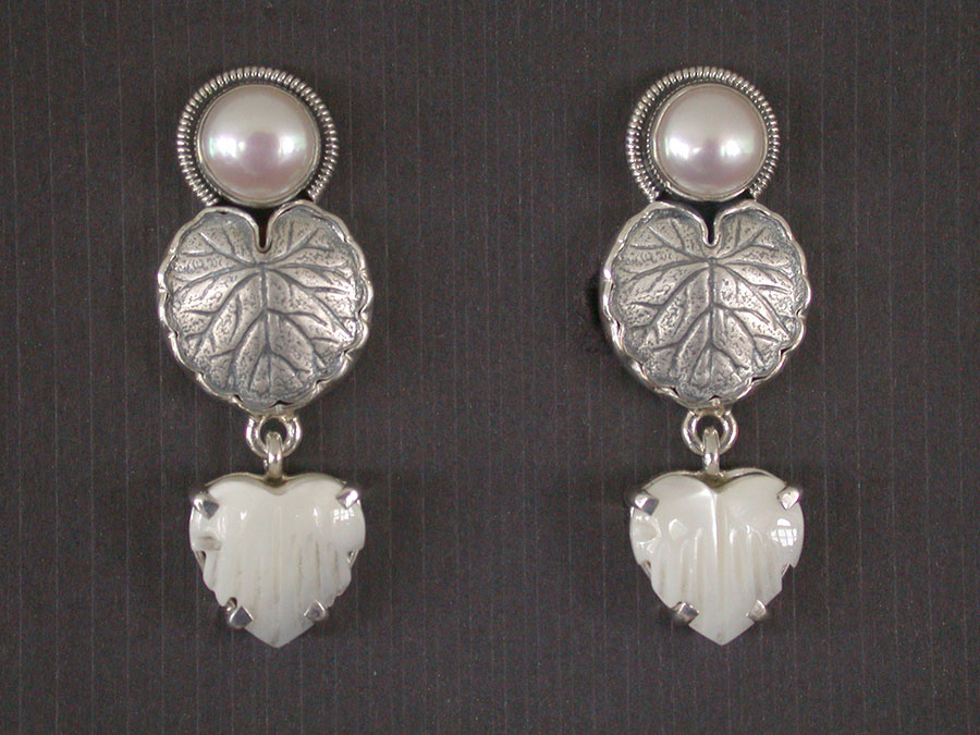 Amy Kahn Russell Online Trunk Show: Freshwater Pearl & Mother of Pearl Clip Earrings | Rendezvous Gallery