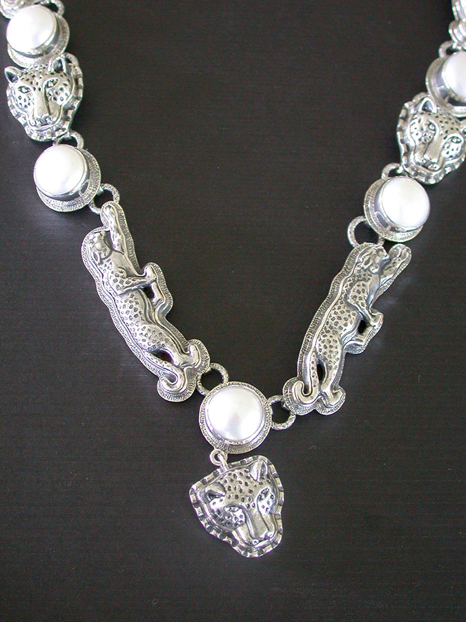 Amy Kahn Russell Online Trunk Show: Freshwater Pearl & Sterling Silver Necklace | Rendezvous Gallery