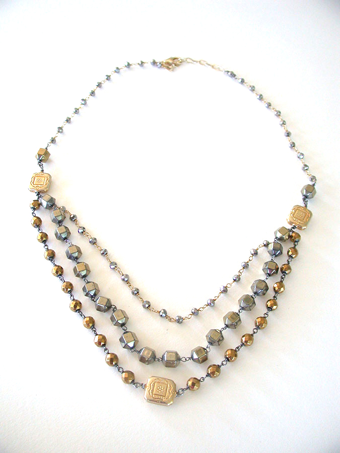 Amy Kahn Russell Online Trunk Show: Chalco Pyrite & Hematite Necklace | Rendezvous Gallery