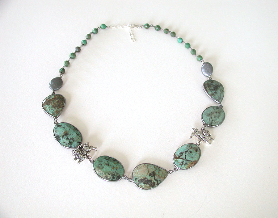Amy Kahn Russell Online Trunk Show: African Turquoise Necklace | Rendezvous Gallery