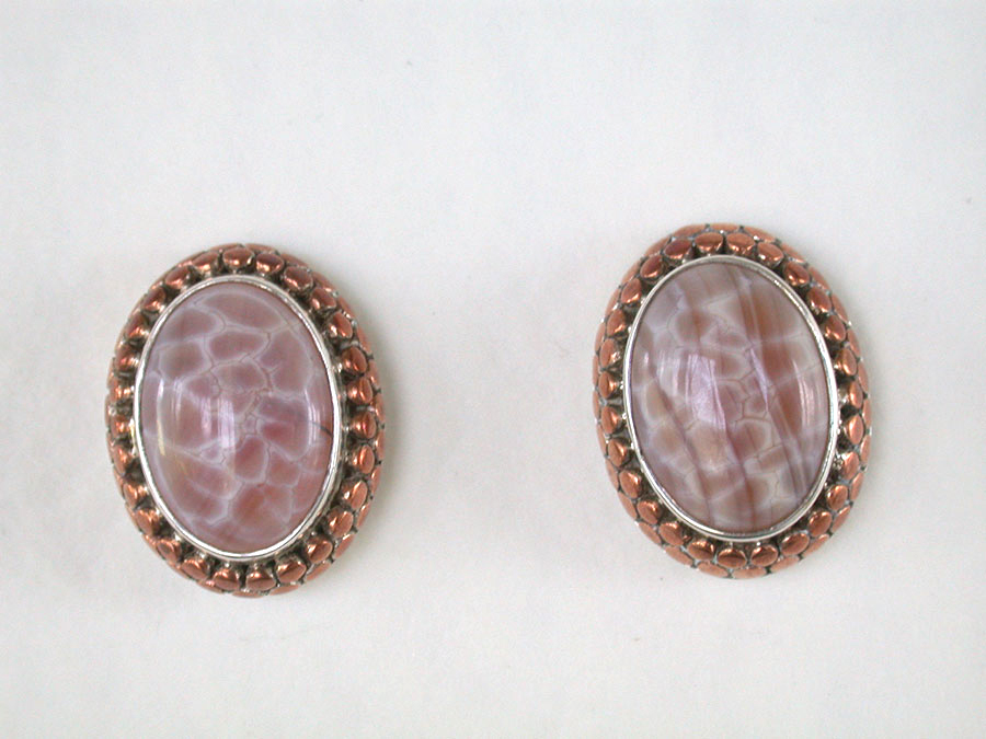 Amy Kahn Russell Online Trunk Show: Mexican Fire Agate Post Earrings | Rendezvous Gallery