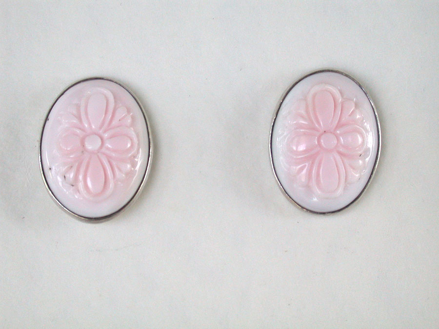 Amy Kahn Russell Online Trunk Show: Hand Carved Shell Post Earrings | Rendezvous Gallery