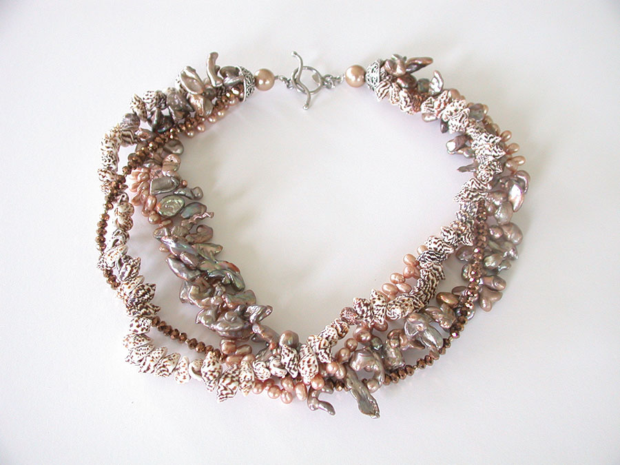 Amy Kahn Russell Online Trunk Show: Natural Shell, Pearl & Angelic Crystal Necklace | Rendezvous Gallery