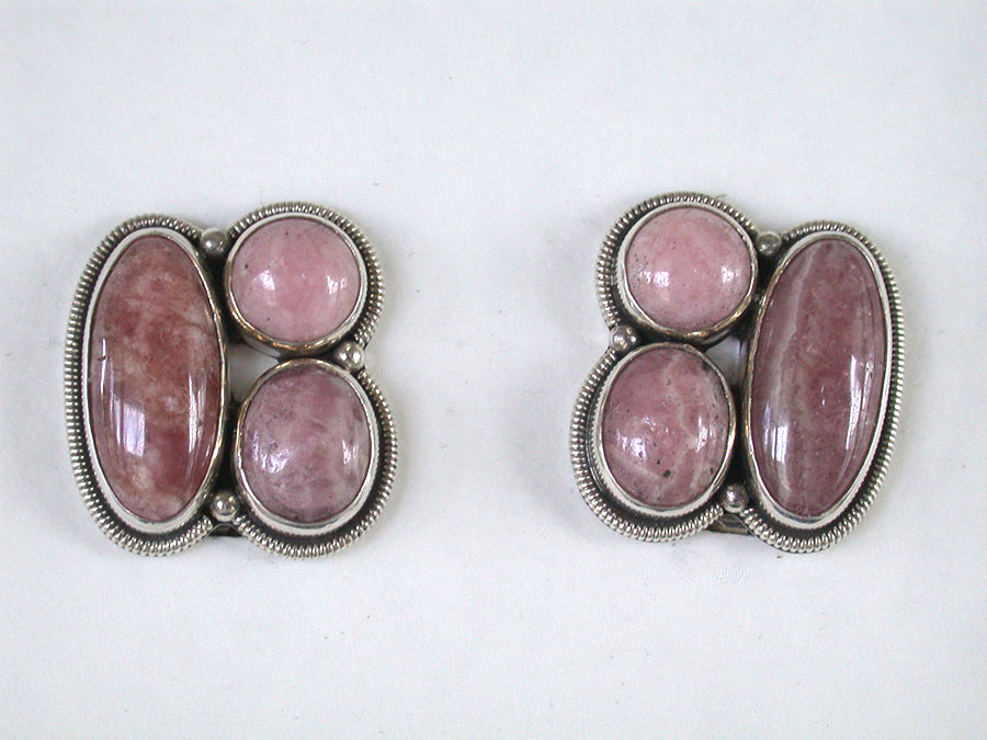 Amy Kahn Russell Online Trunk Show: Rhodocrosite Clip Earrings | Rendezvous Gallery