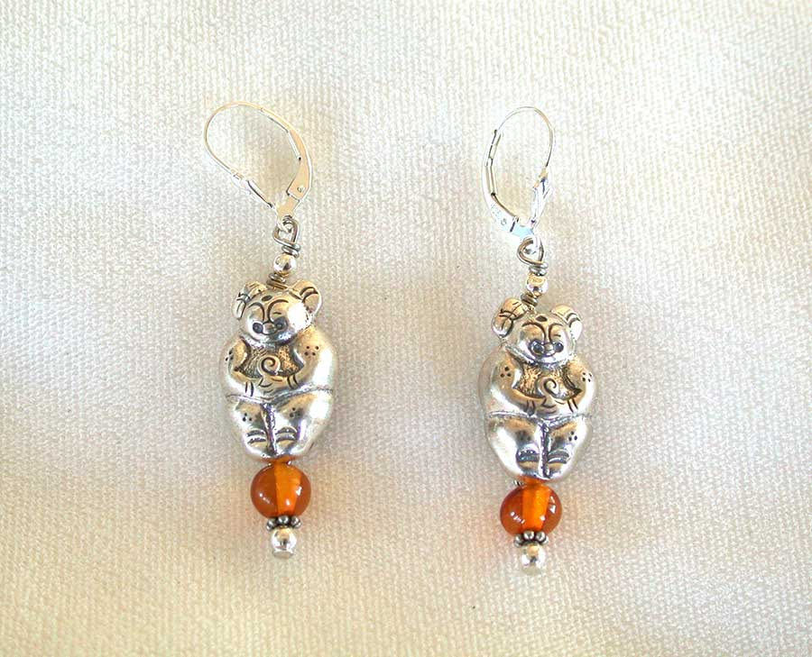 Amy Kahn Russell Online Trunk Show: Sterling Silver & Amber Earrings | Rendezvous Gallery
