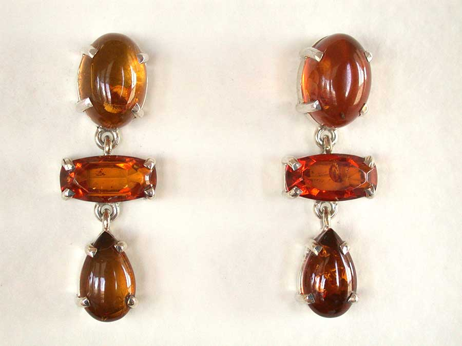 Amy Kahn Russell Online Trunk Show: Baltic Amber Post Earrings | Rendezvous Gallery