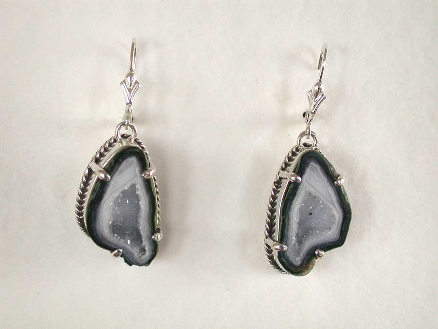 Amy Kahn Russell Online Trunk Show: Natural Geode Earrings | Rendezvous Gallery