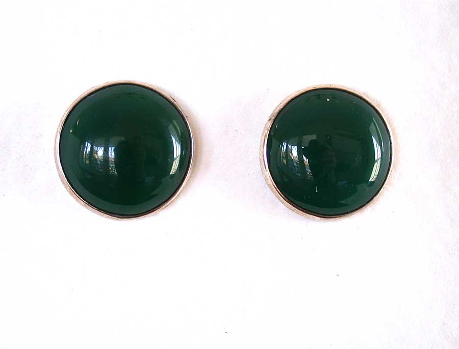 Amy Kahn Russell Online Trunk Show: Green Onyx Post Earrings | Rendezvous Gallery