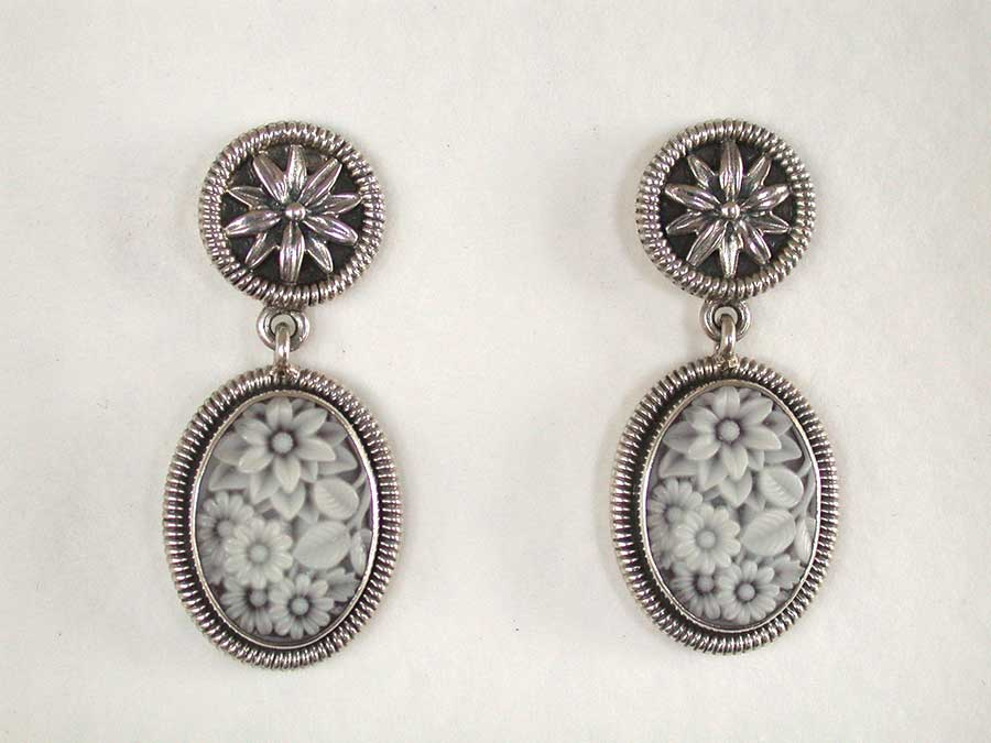 Amy Kahn Russell Online Trunk Show: Sterling Silver & Laser-Etched Glass Post Earrings | Rendezvous Gallery