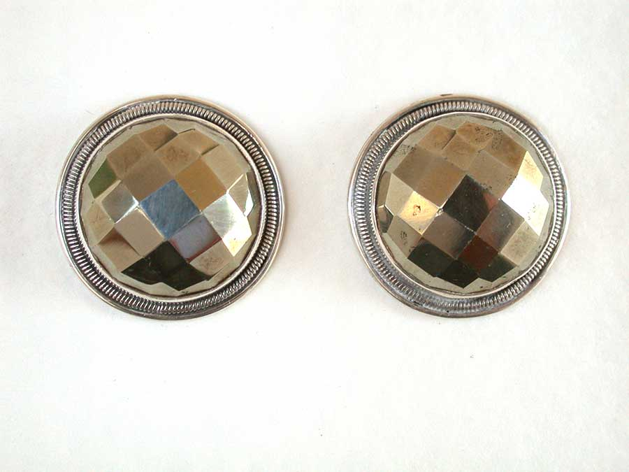 Amy Kahn Russell Online Trunk Show: Chalco Pyrite Post Earrings | Rendezvous Gallery
