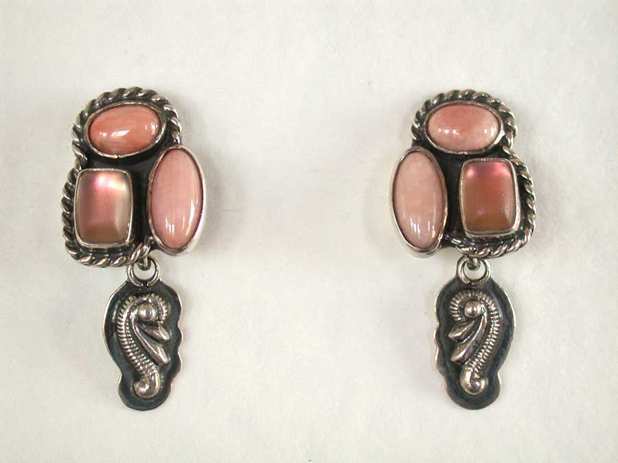 Amy Kahn Russell Online Trunk Show: Natural Coral & Celestial Quartz Post Earrings | Rendezvous Gallery