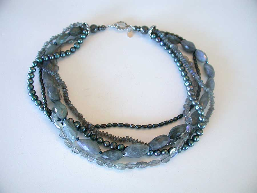 Amy Kahn Russell Online Trunk Show: Labradorite & Freshwater Pearl Necklace | Rendezvous Gallery