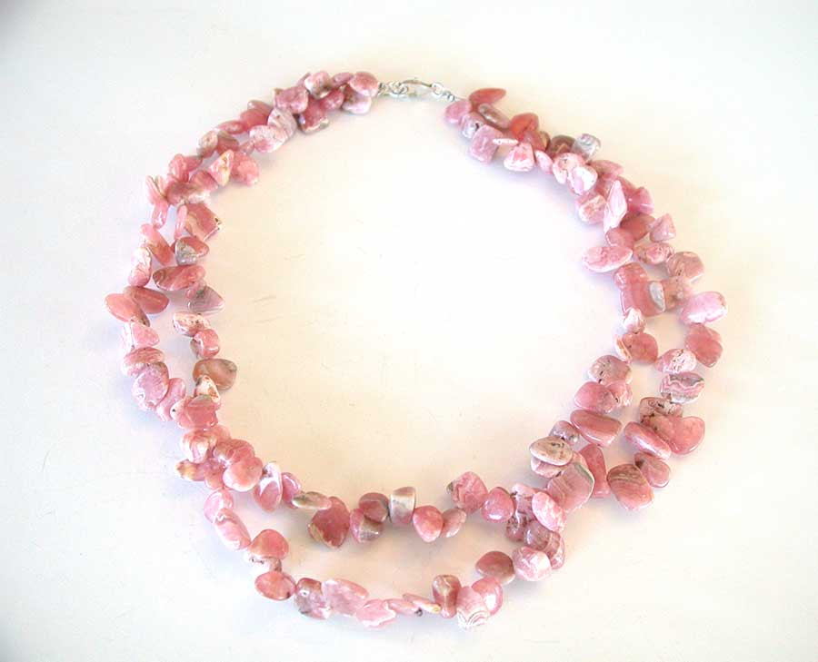 Amy Kahn Russell Online Trunk Show: Rhodocrosite Necklace | Rendezvous Gallery