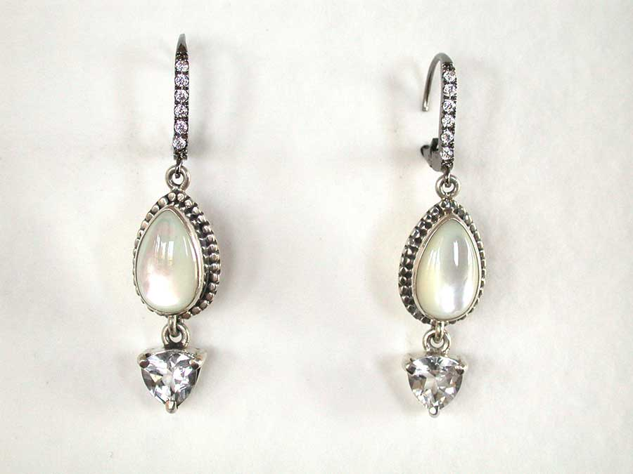 Amy Kahn Russell Online Trunk Show: Mother of Pearl & Crystal Earrings | Rendezvous Gallery